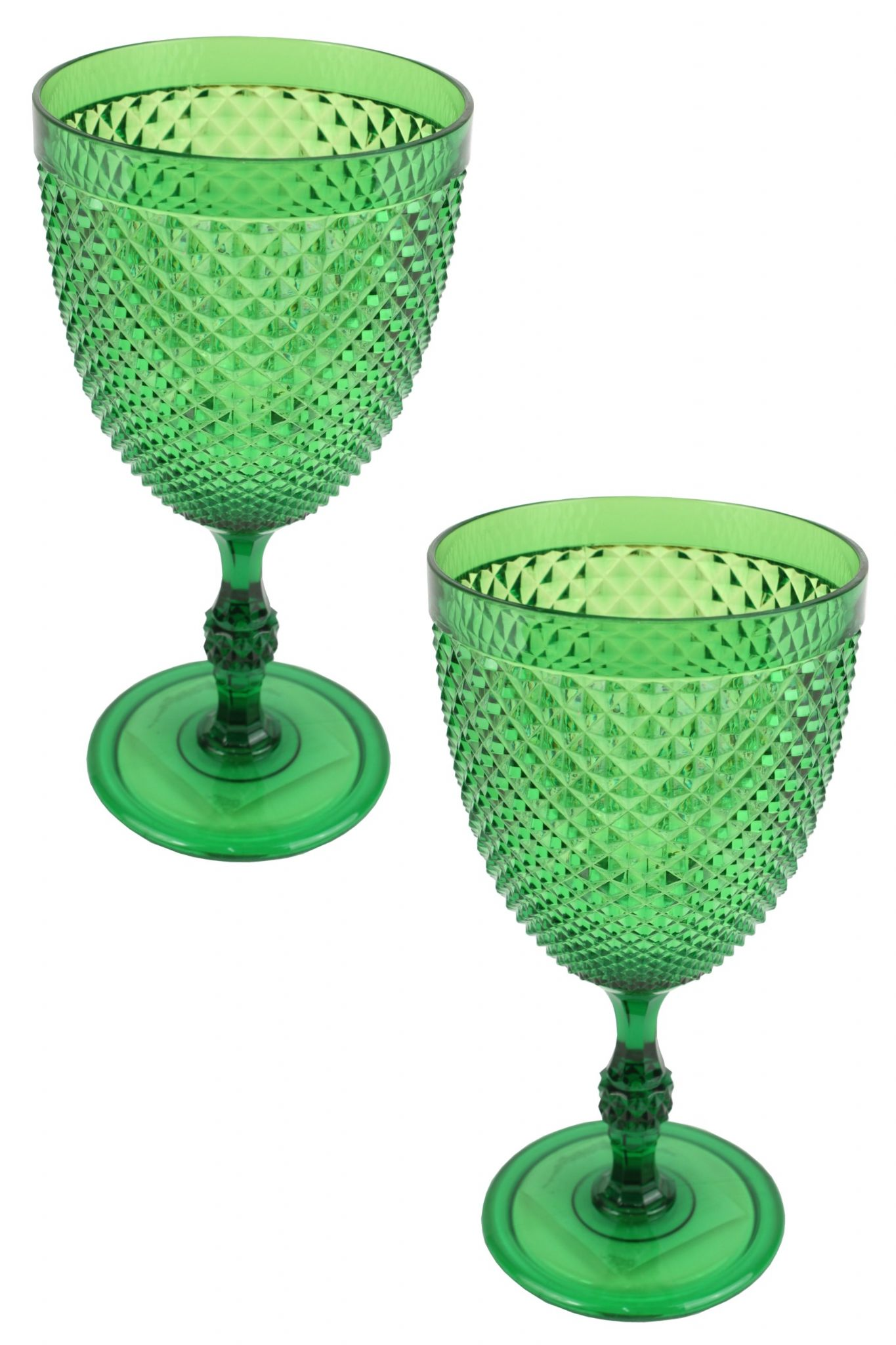 a608e5df2b4 Crystal Effect Plastic Party Picnic Wine Glasses Coloured Drinks Goblets  Capacity 300ml Set of 2